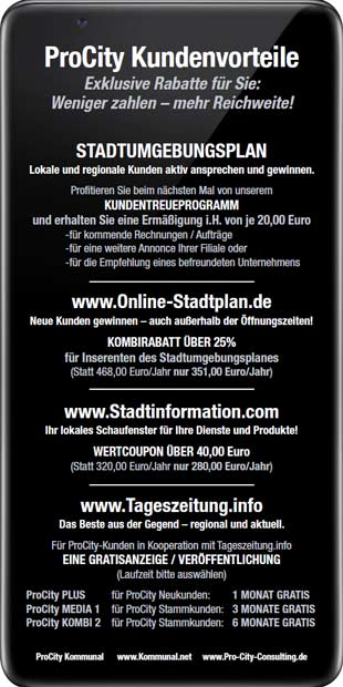 Kundenvorteil - Pro City Consulting UG – Flyer